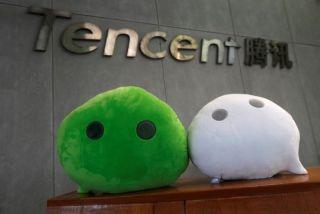 Tencent logo and mascots