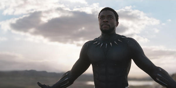 T'Challa without his mask in Black Panther