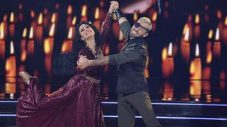 Melora and Artem dancing the night away