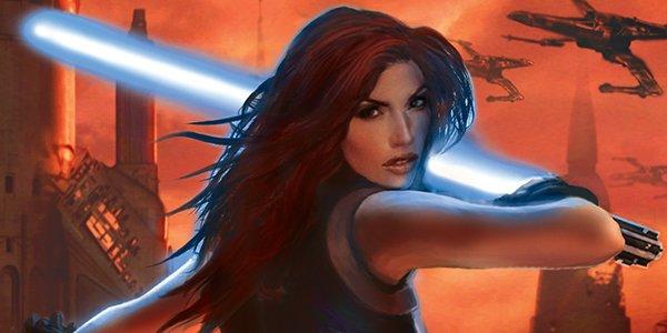 Mara Jade wielding a lightsaber