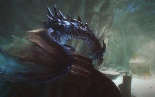 A dragon in the Skyrim mod Wyrmstooth