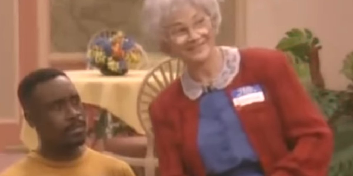 Don Cheadle and Estelle Getty on The Golden Palace