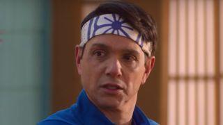 Daniel looking appauled at Johnny's words Cobra Kai Netflix