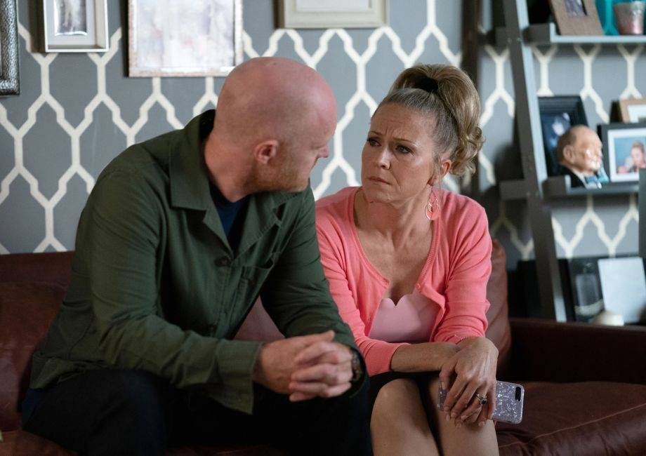 Linda Carter and Max Carter in EastEnders
