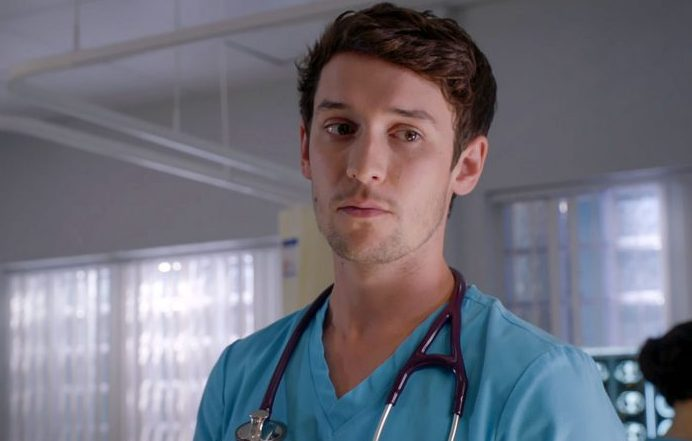 Nic Jackman plays Cameron Dunn in Holby