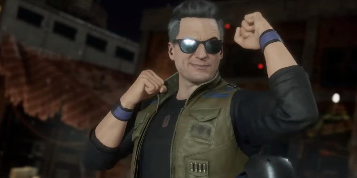 Johnny Cage in a vest