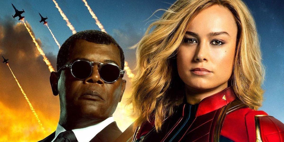 Carol and Nick Fury in Captain Marvel Poster