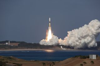 Japan's Kounotori 2 unmanned cargo spacecraft launches toward the International Space Station Jan. 22, 2010.