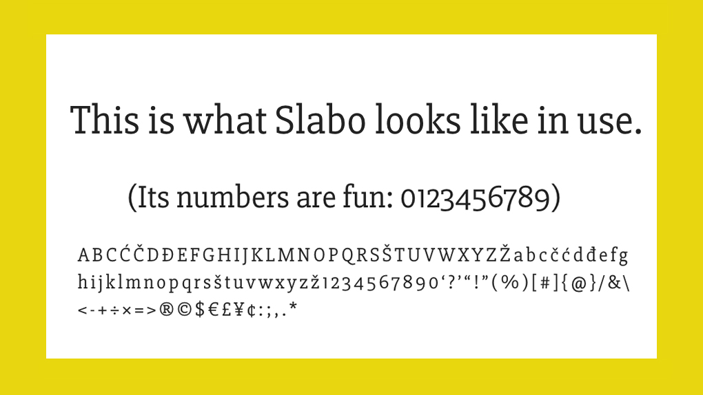 Best free fonts: Slabo
