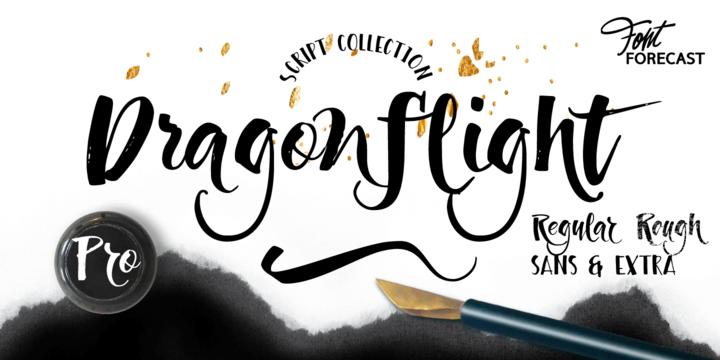 Calligraphy fonts: Dragonflight