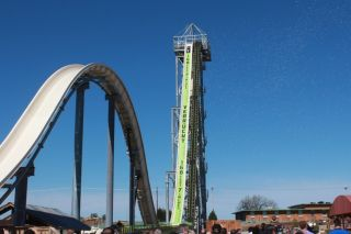 Verrückt is now officially the world's tallest water slide. The ride opened at Schlitterbahn Waterparks on July 10.