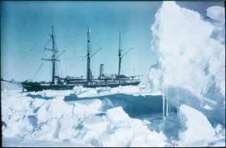 The Endurance trapped in the ice of Antarctica's Weddell Sea in 1915.