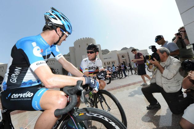 David Millar and Mark Cavendish, Tour of Oman 2012, stage one