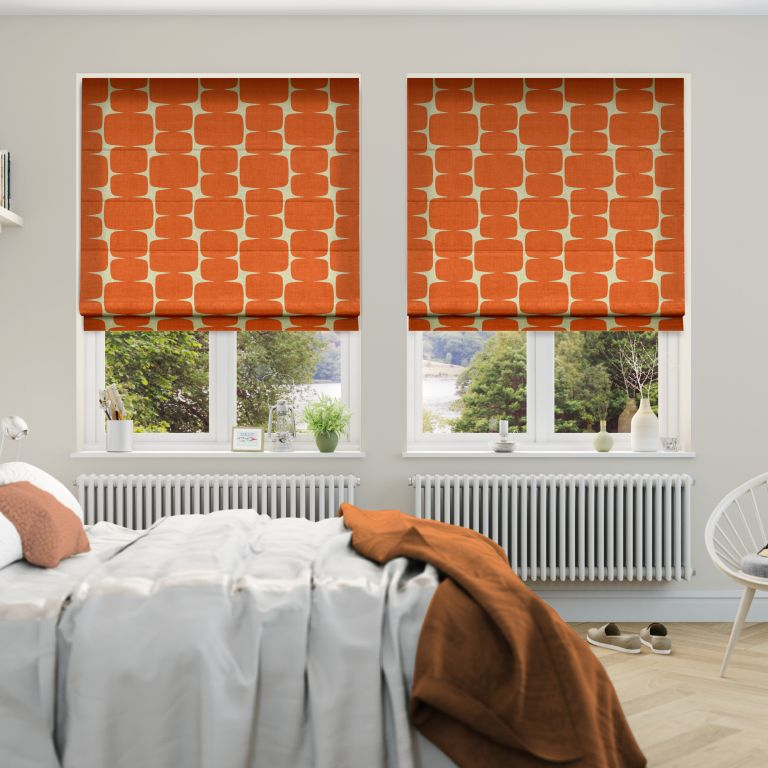 Roman blinds in a bedroom by Blinds2Go