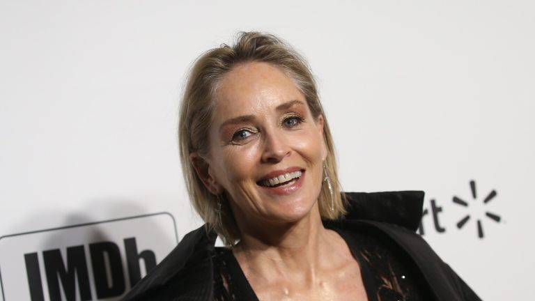 Actress Sharon Stone attends the 28th Annual Elton John AIDS Foundation Academy Awards Viewing Party on February 9, 2020 in West hollywood, california