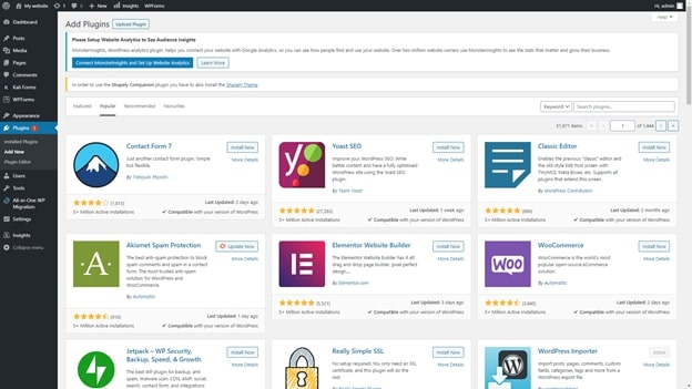 Bibliothèque de plugins WordPress