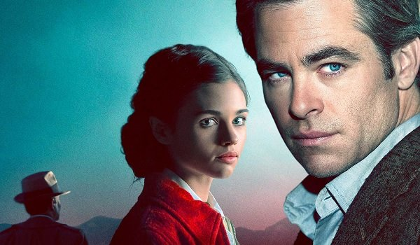 I Am The Night India Eisley and Chris Pine stand mysteriously before the twilight