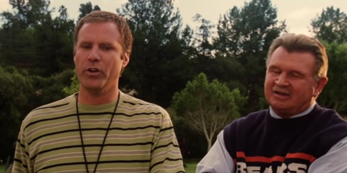 Will Ferrell and Mike Ditka coaching soccer