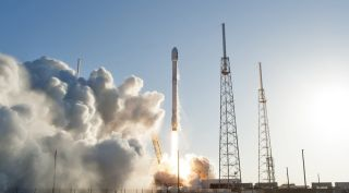 A SpaceX Falcon 9 launches NASA's TESS mission in April 2018. That launch was one of several that may have used hardware produced by a supplier that forged inspection reports.