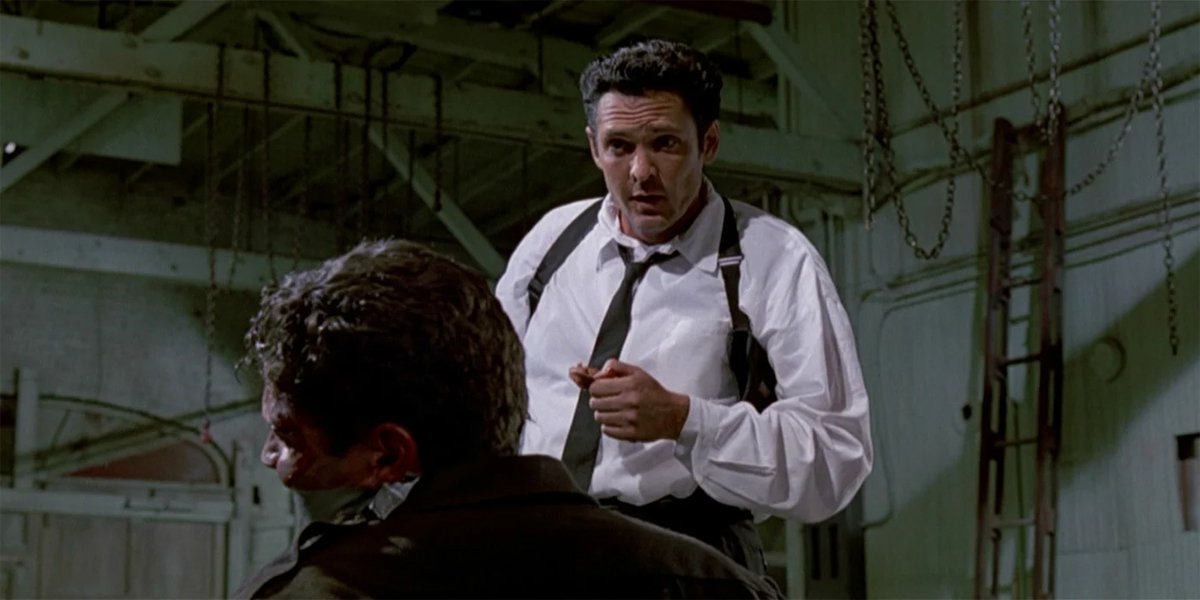 Michael Madsen as Mr Blonde with ear