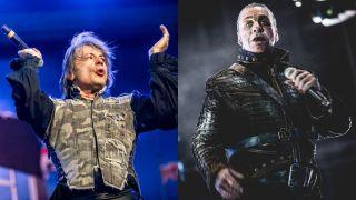 Bruce Dickinson of Iron Maiden and Till Lindermann of Rammstein