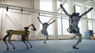 Robots dancing to rock and roll