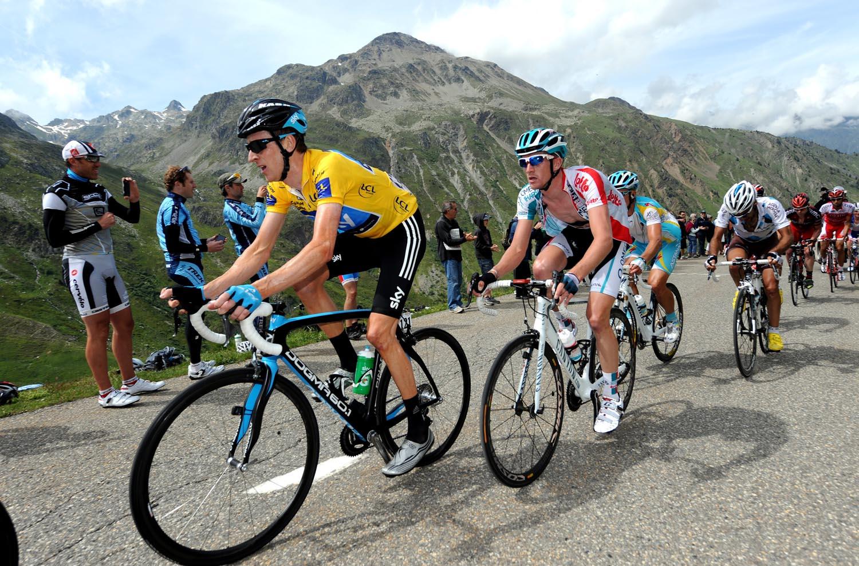Bradley Wiggins and Jurgen Van Den Broeck, Criterium du Dauphine 2011, stage seven