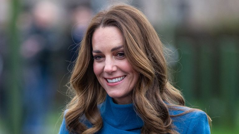 Catherine, Duchess of Cambridge meets staff and pupils from Holy Trinity Church of England First School as part of a working visit across the UK ahead of the Christmas holidays on December 7, 2020 in Berwick-Upon-Tweed