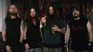 Pantera in 2001: from left – Rex Brown, Dimebag Darrell, Phil Anselmo, Vinnie Paul