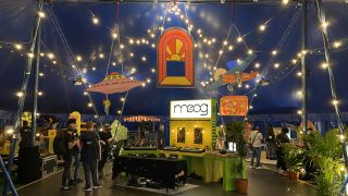 A Moog circus tent, SoundForce's retro '90s arcade cabinet, and more