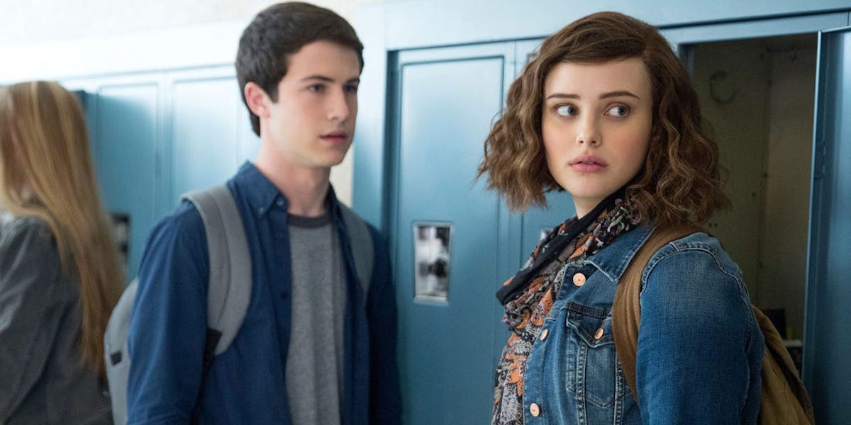 Dylan Minnette and Katherine Langsford in Season One of 13 Reasons Why