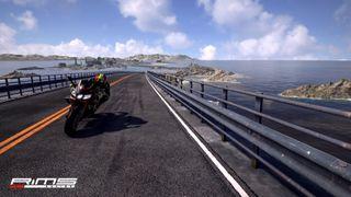 Motorcycle racing screenshot.