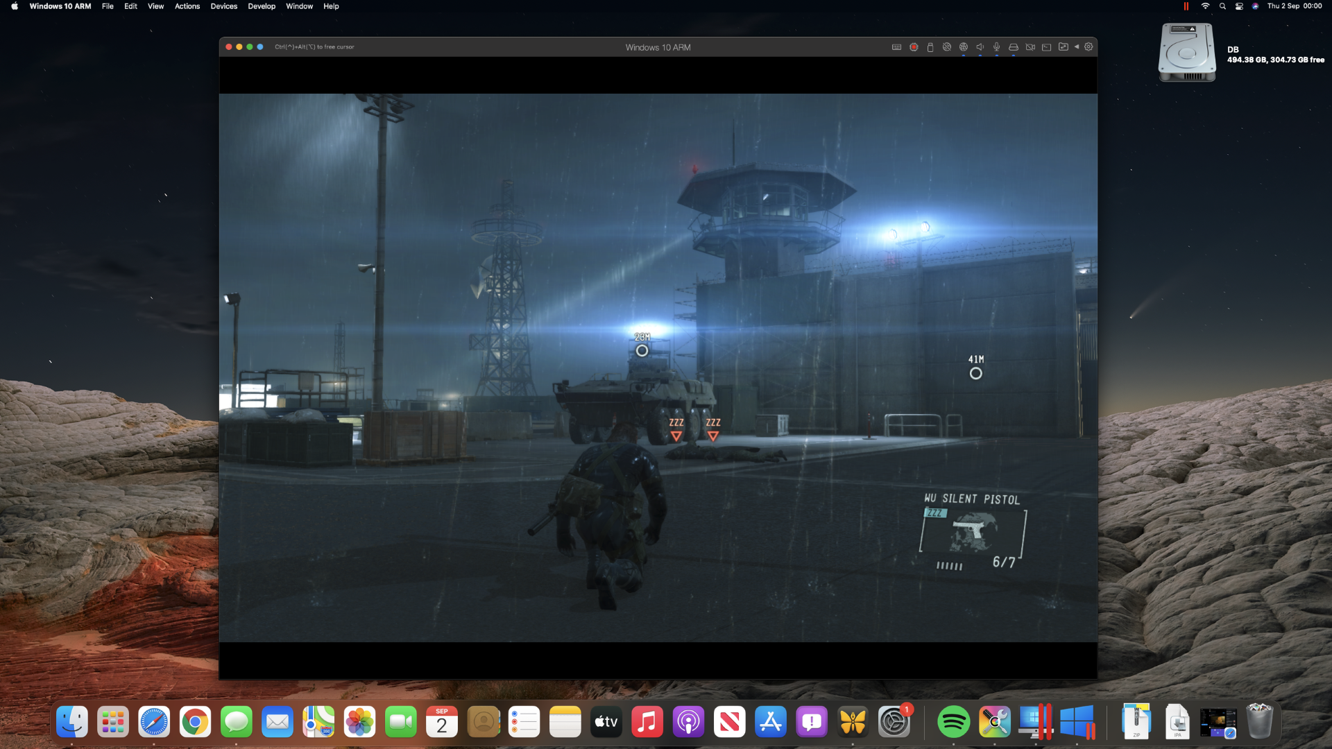 Playing Ground Zeroes on a M1 Mac mini