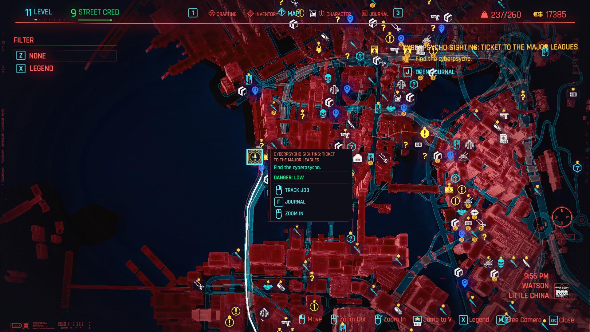 Cyberpunk 2077 Cyberpsycho Sightings locations