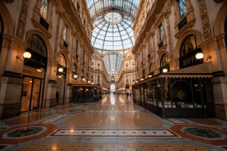 The Galleria Vittorio Emanuele II in Milan, Italy's oldest active shopping mall, seen on Nov. 10, during the country's new COVID-19 lockdown.