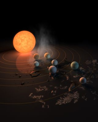 Trappist-1 system art