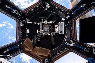 IMAX Camera in International Space Station Cupola