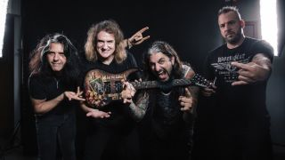A promo picture of supergroup Metal Allegiance