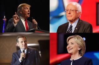 candidates, 2016, bernie sanders, hillary clinton, donald trump, ted cruz