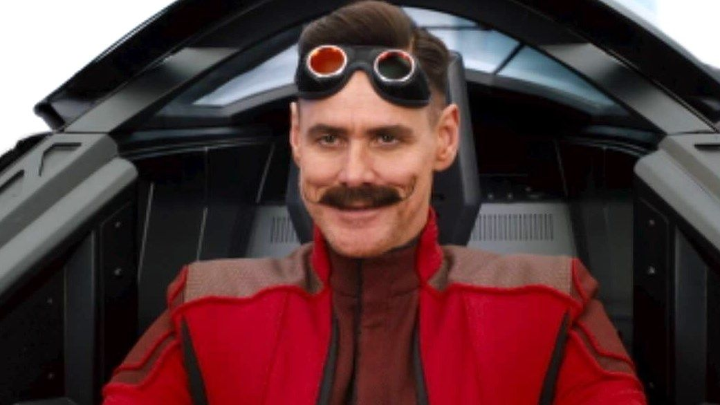 Sonic The Hedgehog Movie S Dr Robotnik Revealed Check Out This Leaked Image Of Jim Carrey In Full Smirk Mode Gamesradar