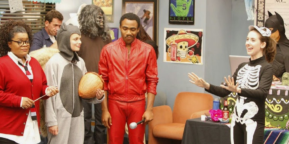 Troy in his Eddie Murphy outfit in Community.