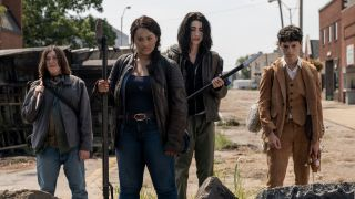Some of the main cast of The Walking Dead: World Beyond.