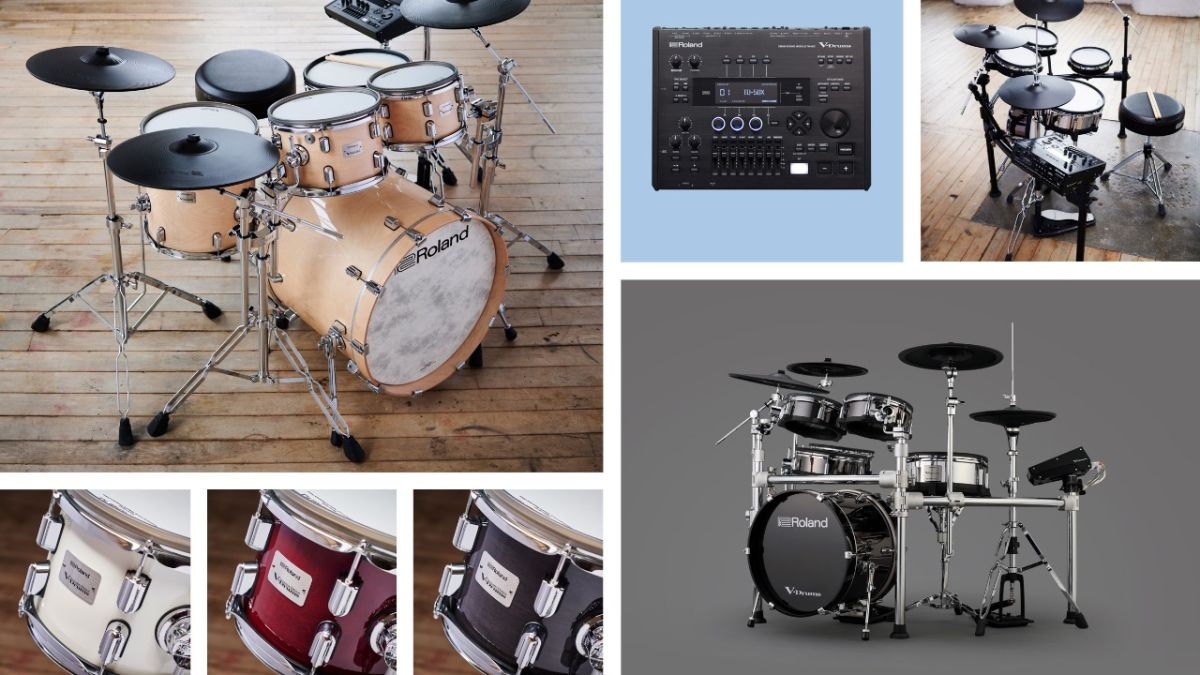 Roland announces three flagship V-Drums and VAD kits based around new TD-50X module and VH-14D digital hi-hats