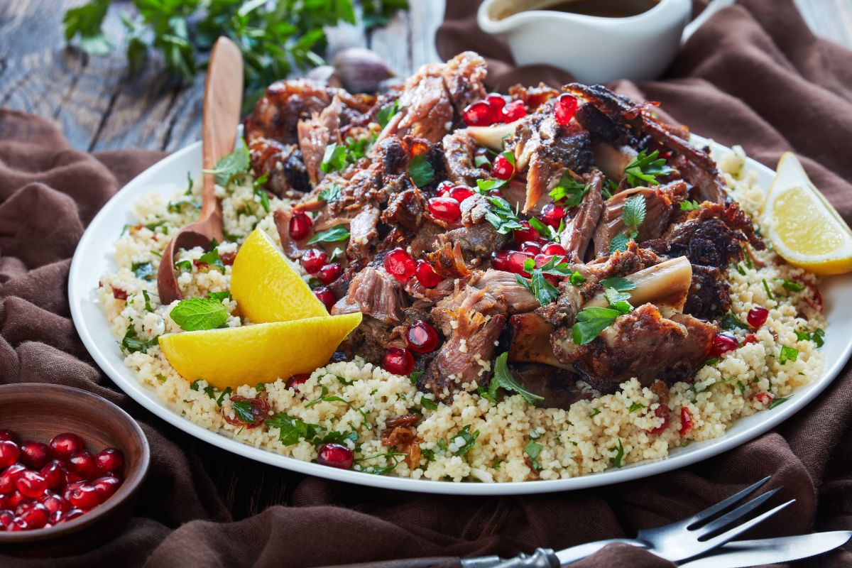 This slow cooker leg of lamb recipe has a Moroccan twist