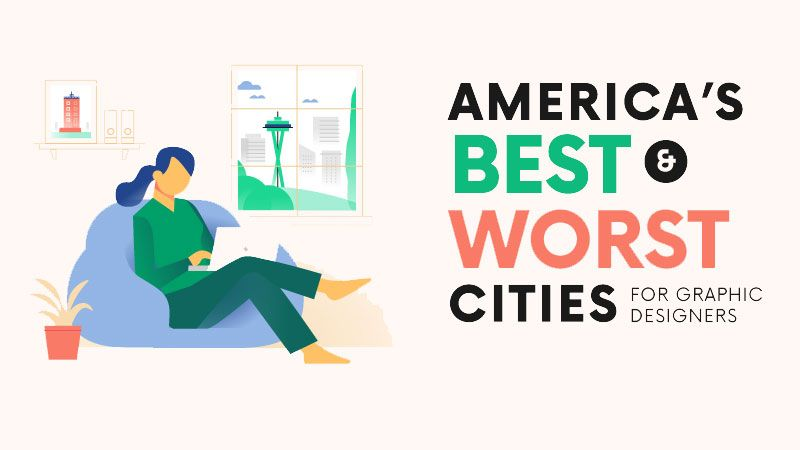 Which are the best (and worst) cities for graphic designers in the USA?