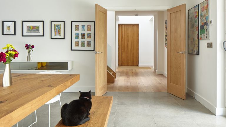 Porto oak pivot front door by Urban Front