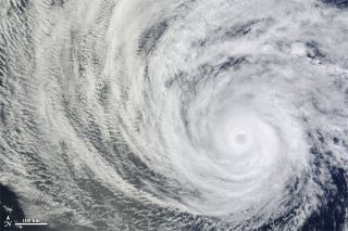 Hurricane Daniel on July 8, 2012