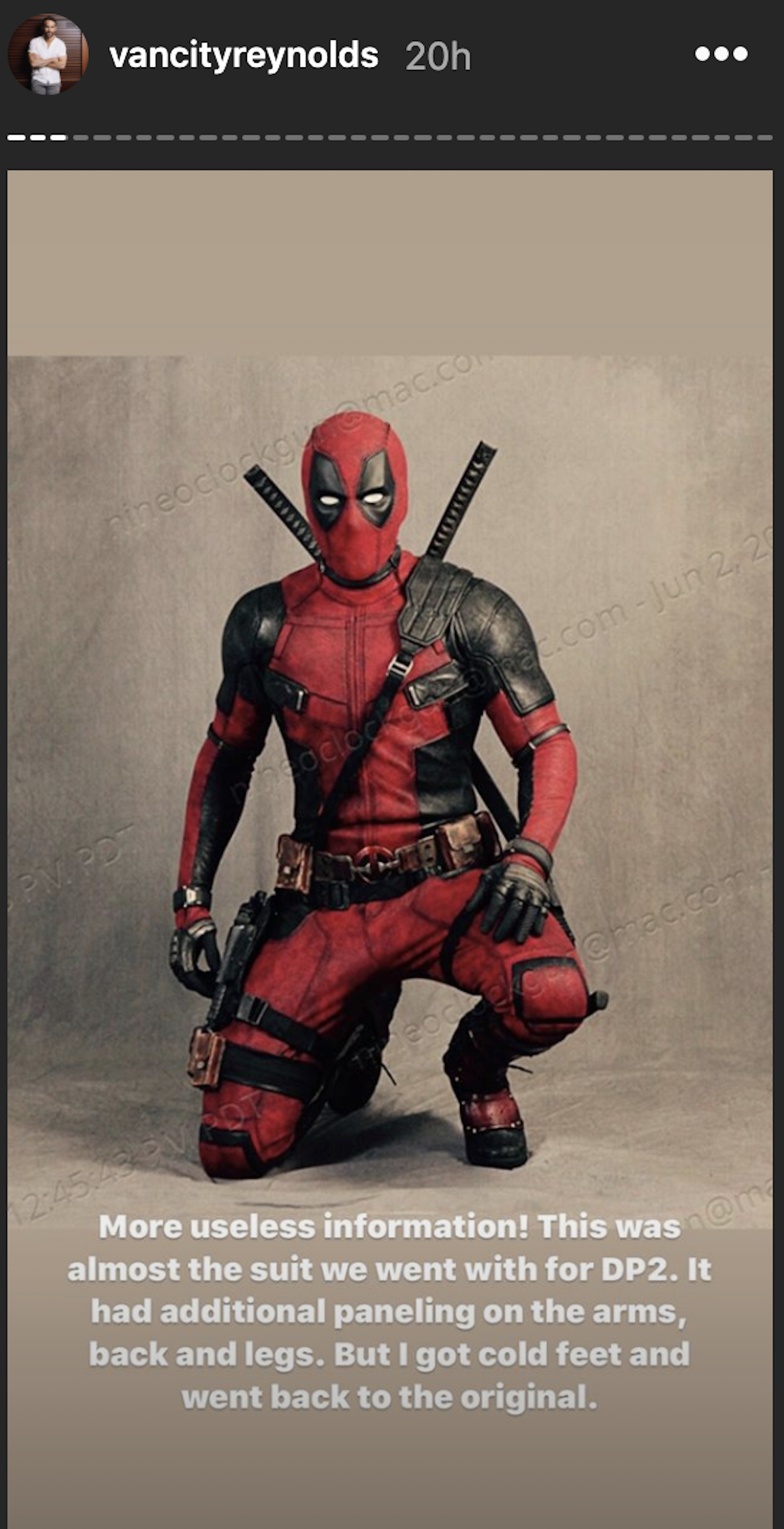 Deadpool's alternate costume