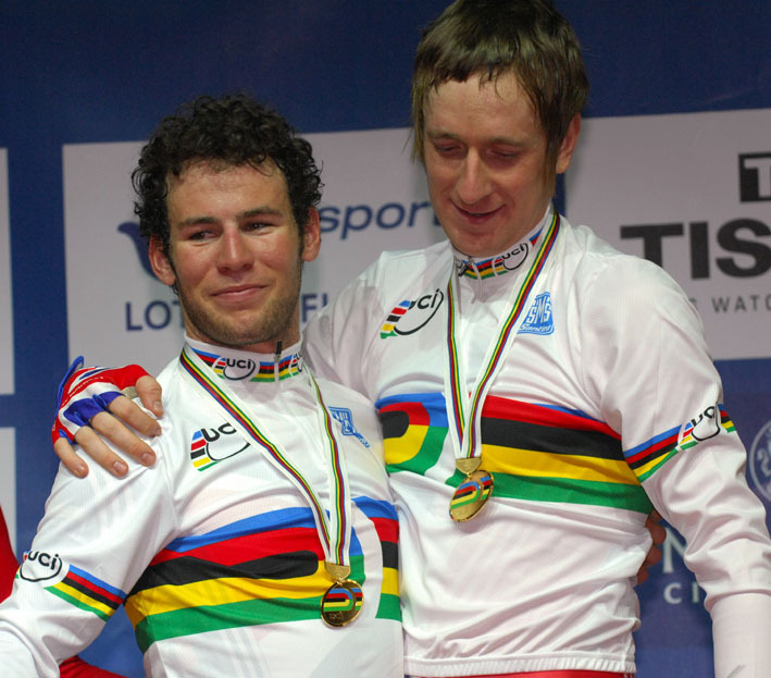 World Championship Madison Mark Cavendish 2008