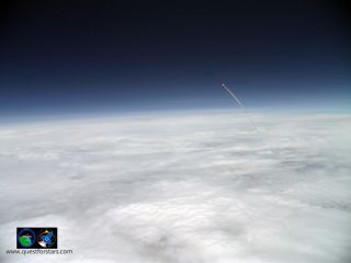 Atlantis launch seen from a balloon